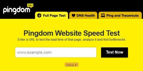بررسی سرعت سایت در pingdom
