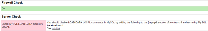 خطا Check MySQL LOAD DATA disallows LOCAL