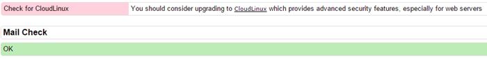 خطا Check for CloudLinux در csf