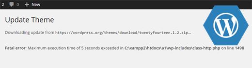 رفع مشکل خطا Maximum Execution Time Exceeded در wordpress