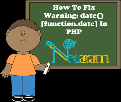 رفع اخطار date function.date در php
