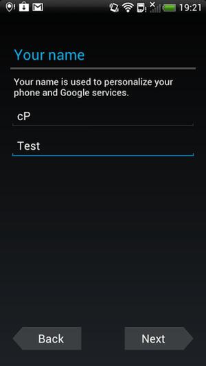 وارد کردن مشخصات اکانت گوگل