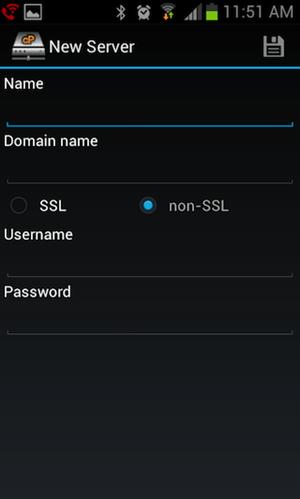 اتصال Web disk سی پنل به اندروید