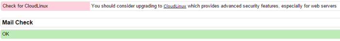 خطا Check for CloudLinux در csf