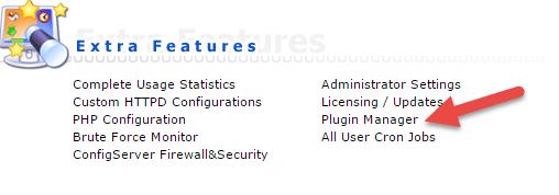 plugin manager در دایرکت ادمین
