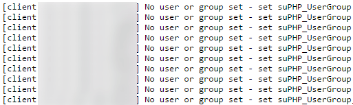 خطا No user or group set - set suPHP_UserGroup در suphp