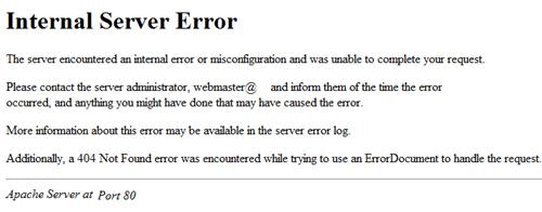 خطا interval server error در suphp