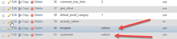 تغییر قالب وردپرس از phpmyadmin ( تغییر قالب خراب )