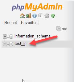 ورود به دیتابیس در phpmyadmin