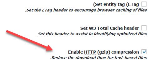 فعال سازی gzip در افزونه w3 total cache وردپرس