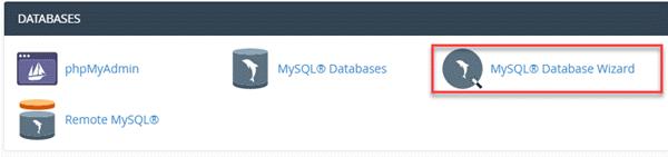 ایجاد پایگاه داده از طریق Database Wizard سی پنل