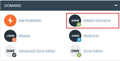 اضافه کردن ادان دامین در سی پنل (addon domain)
