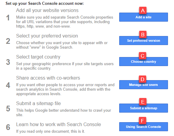تنظیم کنسول گوگل